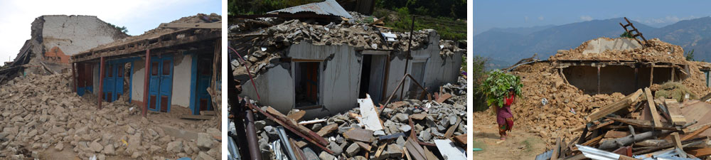 Destroyed Homes in Nepal after Earthquake