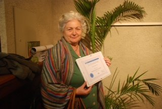 Rodica with her award