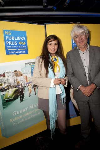 Saskia Troy (Chapter Leader Netherlands) with Geert Mak (photo by Chris van Houts)