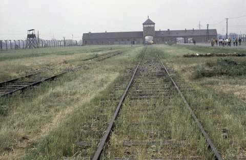 The outside of Auschwitz in Poland, taken in 1979.