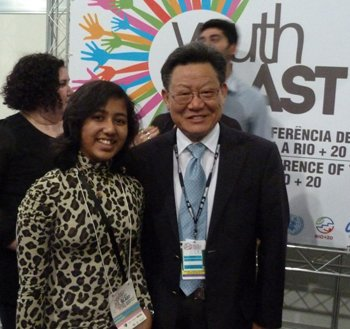 Kehkashan Basu with Mr. Sha Zukang