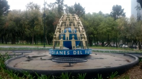 The Torch of Hope sculpture in Mexico