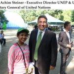 Kehkashan Basu with Achim Steiner