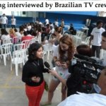 Kehkashan being interviewed for TV