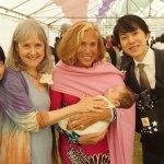 Yuka Saonji, Deborah Moldow, Nina and baby Soma