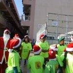 Santa visits the labor camp