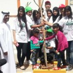 Scores of Participants Spread over the pits and planted 120 trees spread across a big area