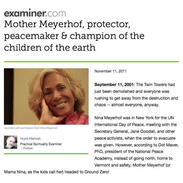 Mother Meyerhof, protector, peacemaker & champion of the children of the earth