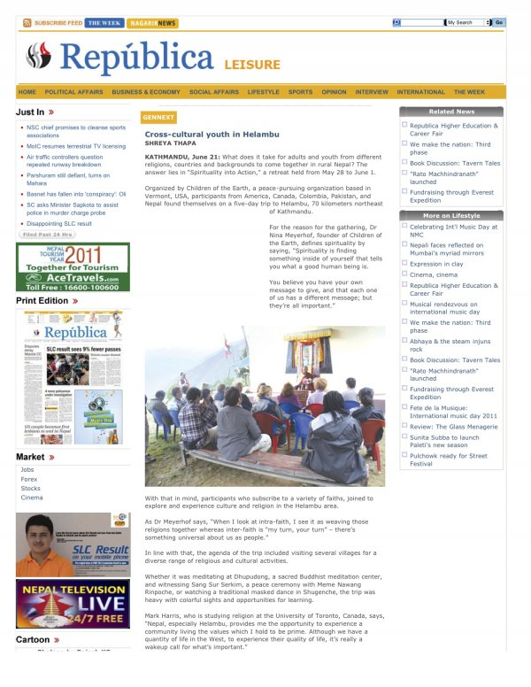 Cross-cultural youth in Helambu