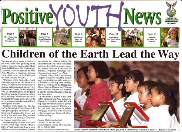 Children of the Earth Lead the Way