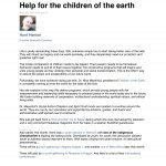 Help for the children of the earth